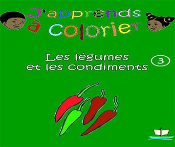 Coloriage: Les légumes et condiments